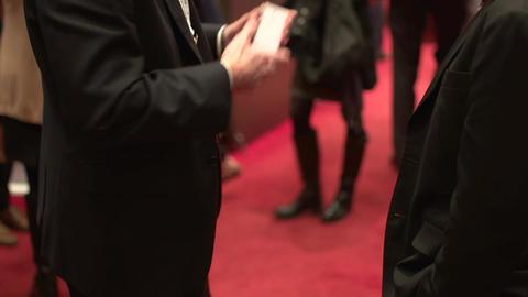Animated gestures of businessmen Footage
