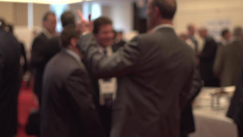 Back view of businessmen talking - slow motion (1 of 3) Live Action
