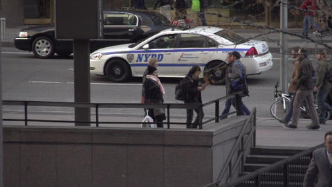 Slow Motion view of pedestrians and cars in NYC (8 of 9) Footage