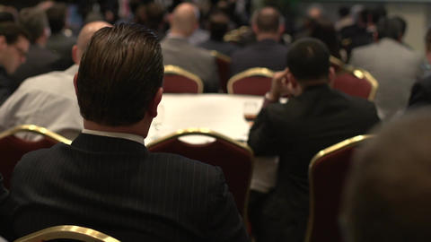 Attending a business conference (2 of 8) Footage