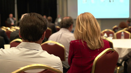 Attending a business conference (8 of 8) Footage