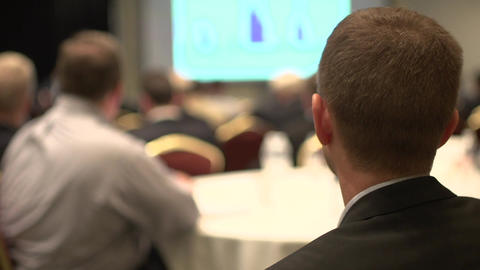 Attending a business conference (1 of 8) Footage