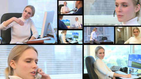 Montage of confident businesswoman at work (1 of 1) Footage