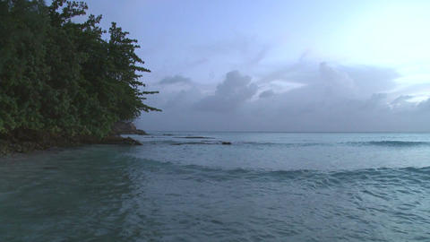 Coastal Barbados Evening (2 of 2) Footage