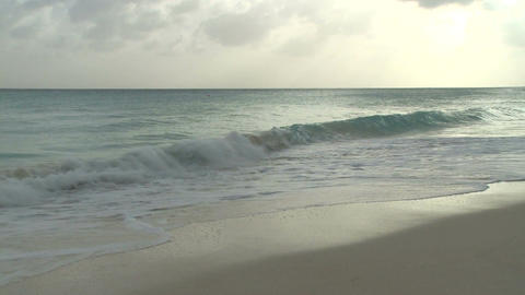 Evening on a Barbados beach (2 of 6) Footage