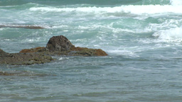 Ocean Surf On The Rocks (1 Of 2) stock footage