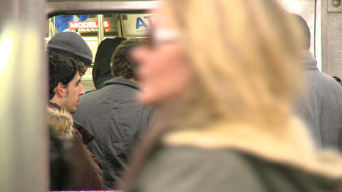 NYC Subway passengers Footage