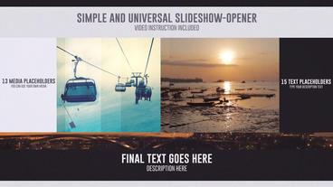 Simple Universal Slideshow stock footage
