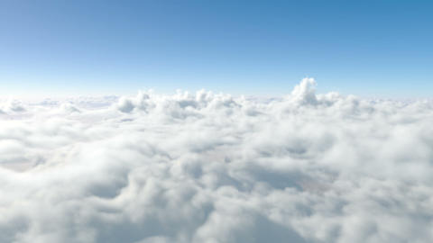 Flying Above The Clouds. Through The Clouds. Paradise stock footage