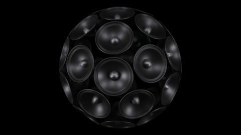 Loud Sound System. Isolated On A Black Background stock footage