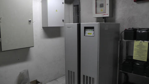 UPS uninterruptible power supply unit and batteries Footage