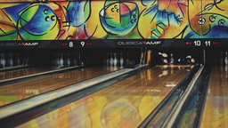 Strike In Bowling stock footage