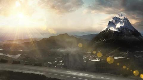 Mountains VFX Style 1 CG動画素材