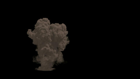 Large explosion and a cloud of dirt in Ultra HD 4K Live Action