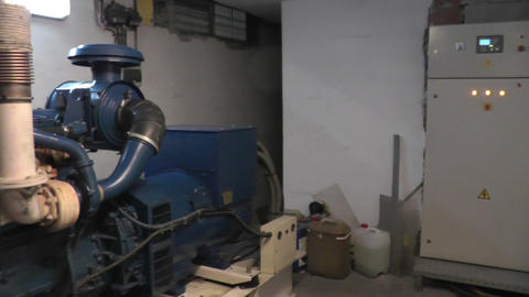 electric generator in office building Footage
