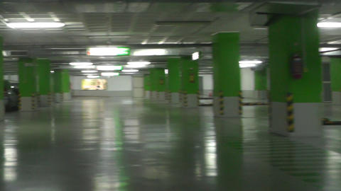 underground parking garage footage Footage