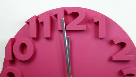 Clock almost at midnight 5 Footage
