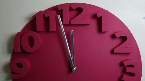 Clock five to midnight dramatic lighting Footage