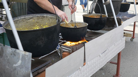 Pot Food Preparation Footage