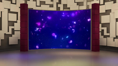 Entertainment TV Studio Set 25 Virtual Green Screen Background Loop stock footage