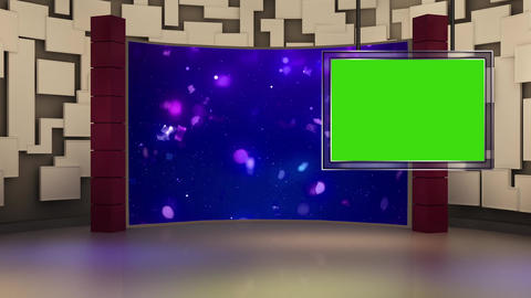Entertainment TV Studio Set 26-Virtual Background Loop ライブ動画