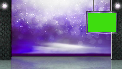 Entertainment TV Studio Set 28 Virtual Green Screen Background Loop stock footage