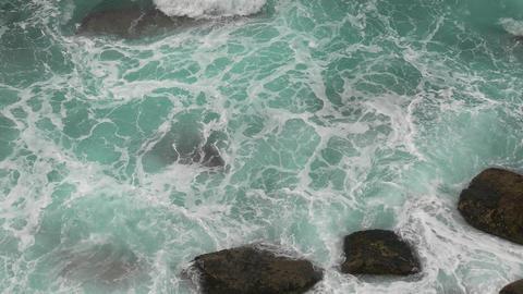 Waves Atlantic Ocean Breaking onto Rocks Footage