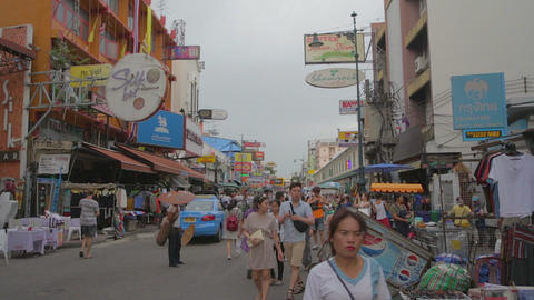 day establishing shot - khaosan road Footage