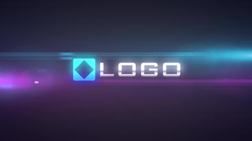 Action Light Streak Transition Logo Reveal Intro stock footage