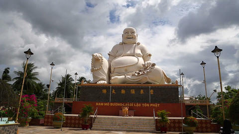 big buddha with big stomach Stock Video Footage