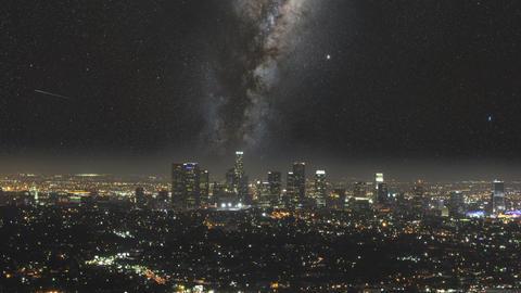 Milky Way LA Footage