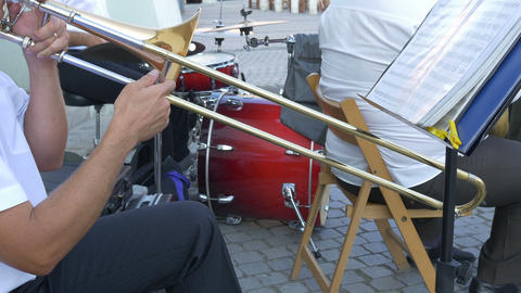 Man Playing Trombone Footage