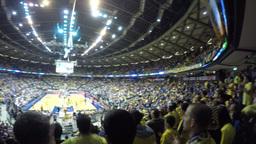 4k Pan on full basketball stadium Footage