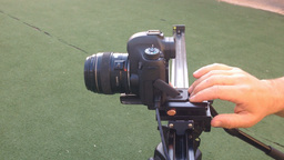 Shooting video using DSLR slider Footage