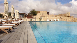 Ultra Luxurious Hotel In Israel stock footage