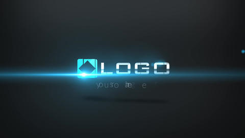 Corporate Business Logo Pieces Spin Zoom Dark Blue Light After Effects Template