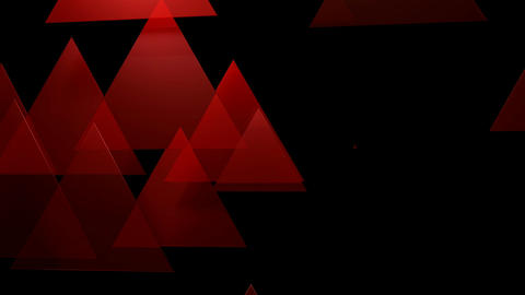 red glossy triangle Animation