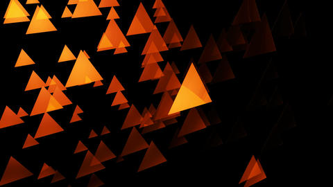 yellowish triangle space Animation
