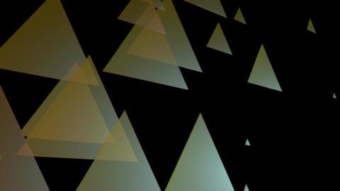 retro color triangle Animation