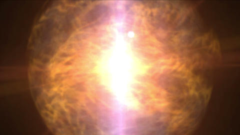 4k Fire ball sphere nebula background,magic power energy tech,nuclear atom Footage