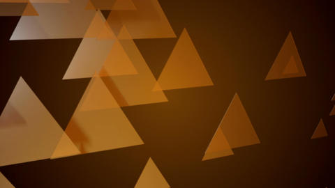 Yellowish Triangle Animation stock footage