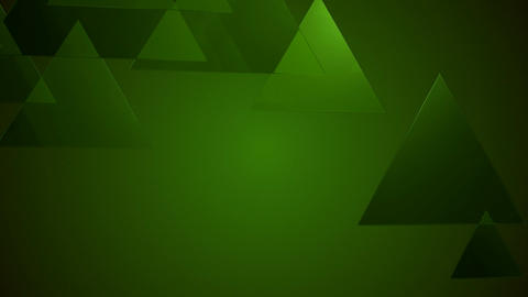 greenish glossy triangle Animation