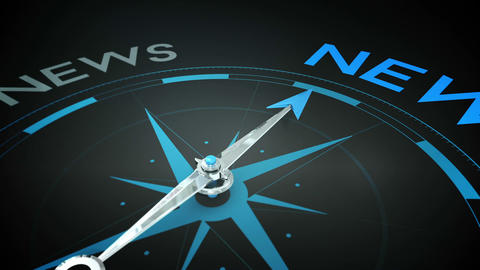 Compass pointing to news Animation