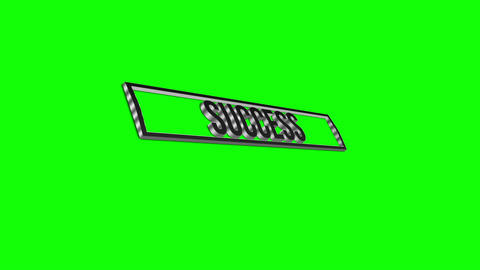 3d success moving text Animation