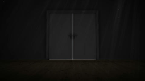 Door opening to light, Stock Animation