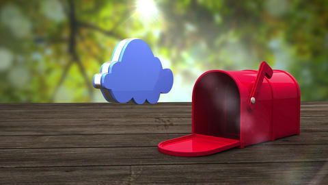 Post box opening to show cloud Animation