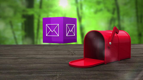 Post box opening to show at email icon Animation