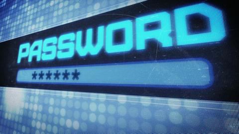 Password text in pixel design Animation