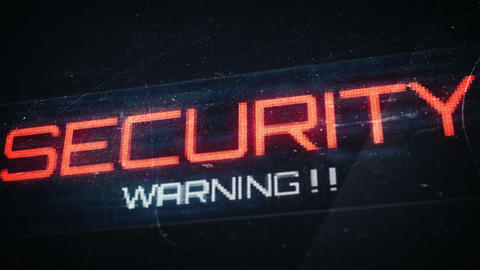 Thumb print and security warnings Animation