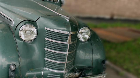 Vintage Car Camera Motion stock footage